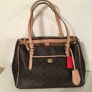 Coach two handled purse